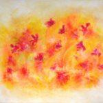"""""""Sommerlett"""". 90x120 cm, akryl på deep edge canvas. Kr. 6000,-"""