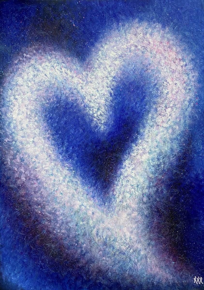 """""""Hjertekraft"""". 50x70 cm, akryl på lerret. Kr. 3500,-"""